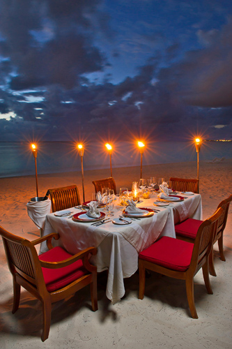 Footprints in the Sand Romantic Dinner